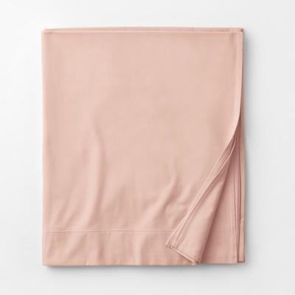 Legacy Velvet Flannel Dusty Rose Solid Twin Flat Sheet