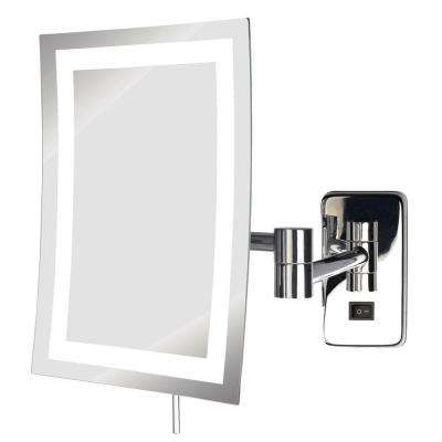 Merveilleux Frameless LED Lighted Wall Mounted Makeup Mirror In Chrome