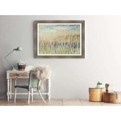 31.5 in. x 43.5 in. 'Muted Grasses' by Patricia Pinto Textured Paper Print Framed Wall Art