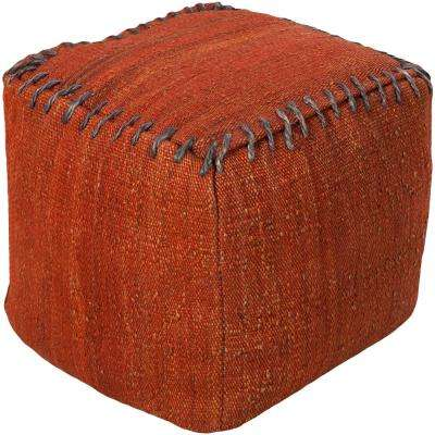 Deressa Red Accent Pouf