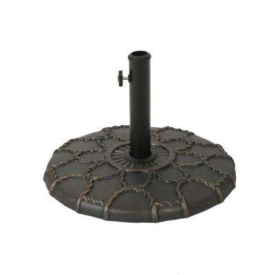 Toby 35.63 lbs. Concrete Patio Umbrella Base in Hammered Dark Copper