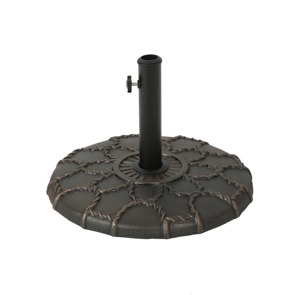 Toby 35.63 lbs. Concrete Patio Umbrella Base in Hammered Dark Copper