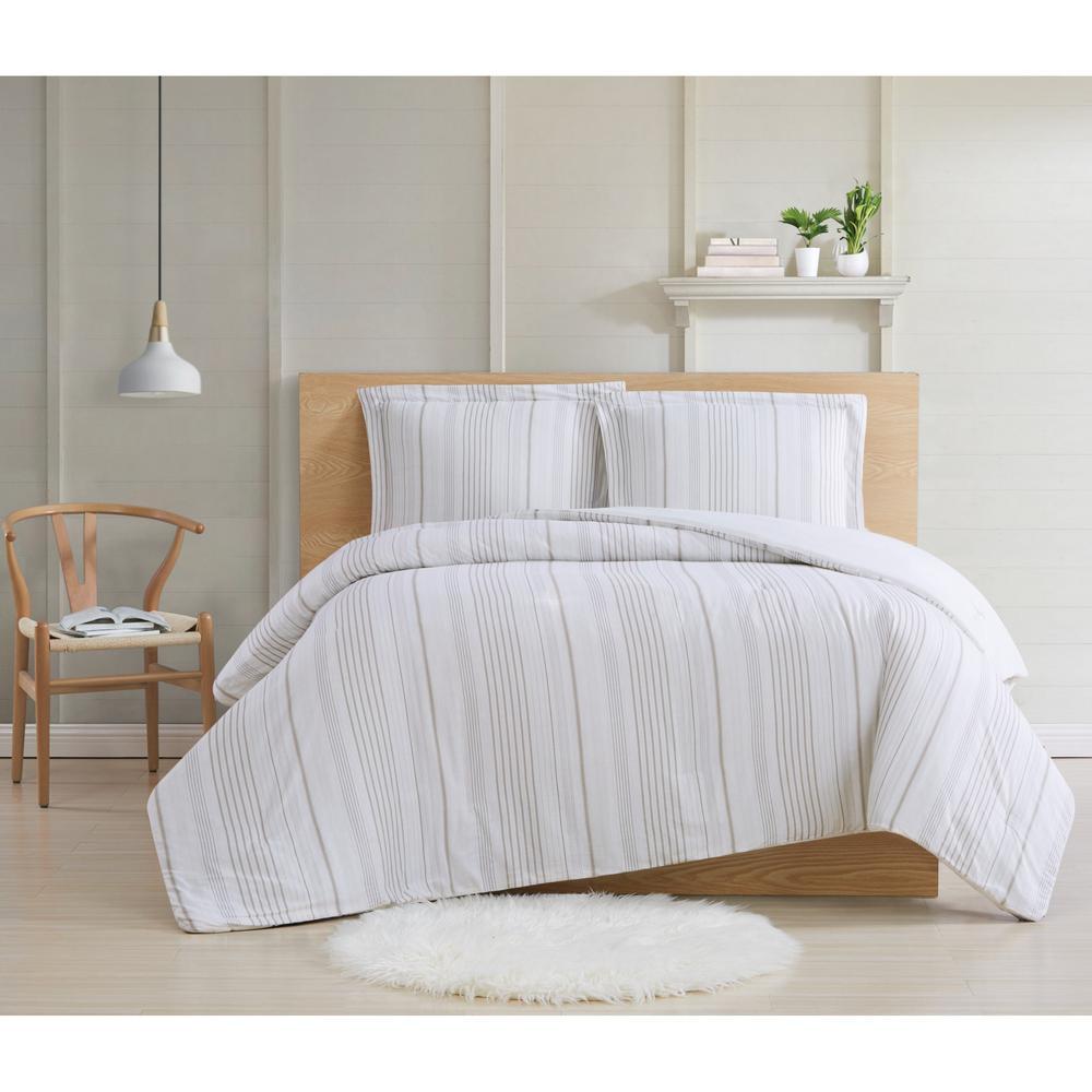 Warm Hearth Stripe 3-Piece Full/Queen Comforter Set
