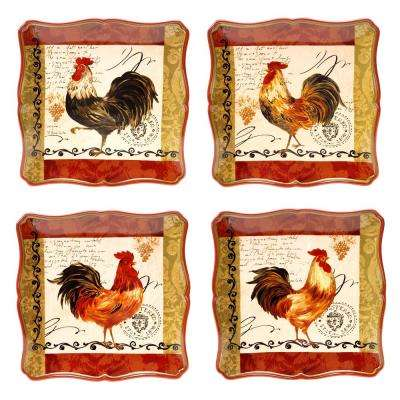 Tuscan Rooster 10.25 in. Dinner Plate (Set of 4)