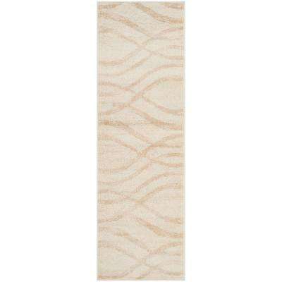 Adirondack Cream/Champagne 3 ft. x 6 ft. Runner