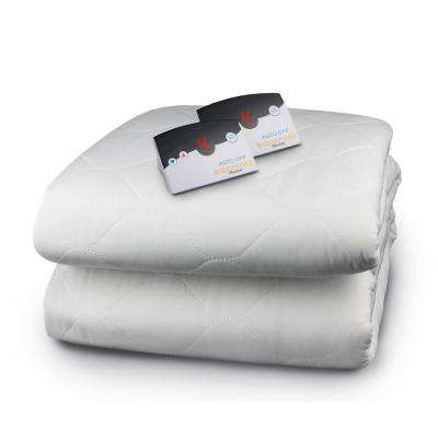White Queen Size Quilted Skirt Mattress Pad