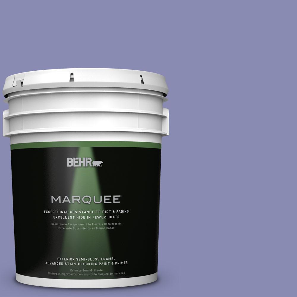 5-gal. #M550-5 Violet Aura Semi-Gloss Enamel Exterior Paint