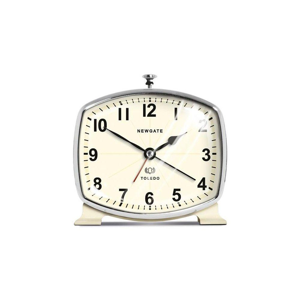 Home Decorators Collection 5 in. Toledo Cream Alarm Clock