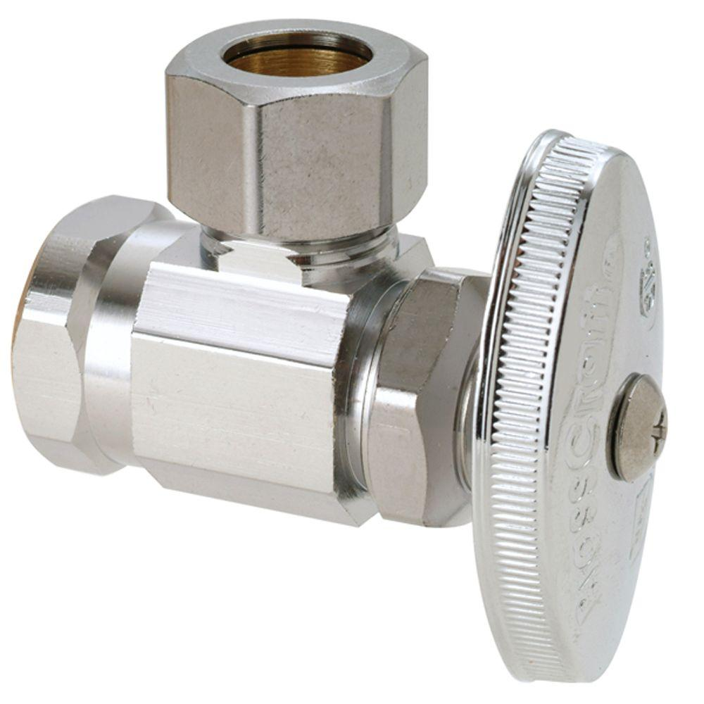 BrassCraft 1/2 in. FIP Inlet x 1/2 in. O.D. Compression Outlet Multi-Turn Angle Valve