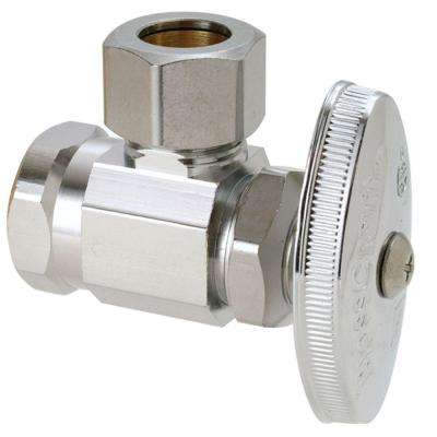 1/2 in. FIP Inlet x 1/2 in. O.D. Compression Outlet Multi-Turn Angle Valve