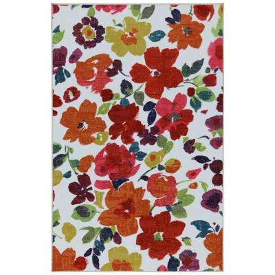 Bright Floral Toss Multi 7 ft. 6 in. x 10 ft. Area Rug