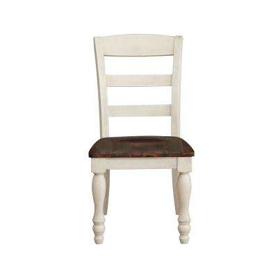 Britta Walnut and White Washed Side Chair (Set of 2)