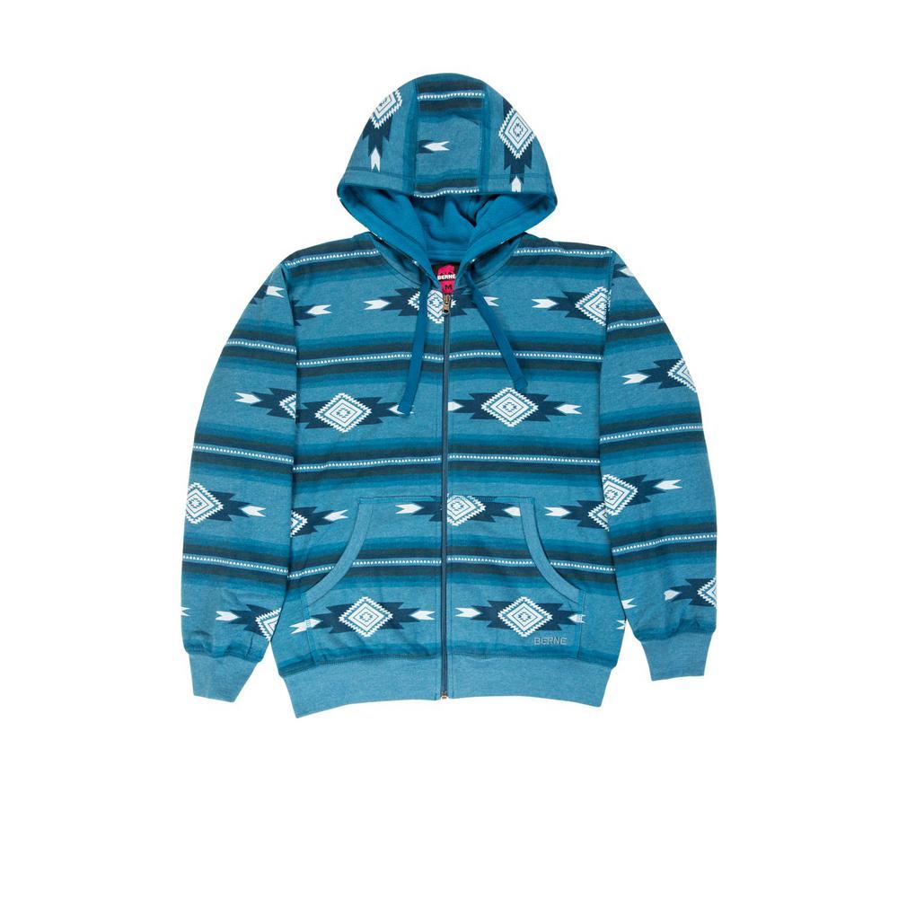 2ed19cfa18c Berne Women's Medium Aztec D Cotton and Polyester Fleece Lined Sweatshirt