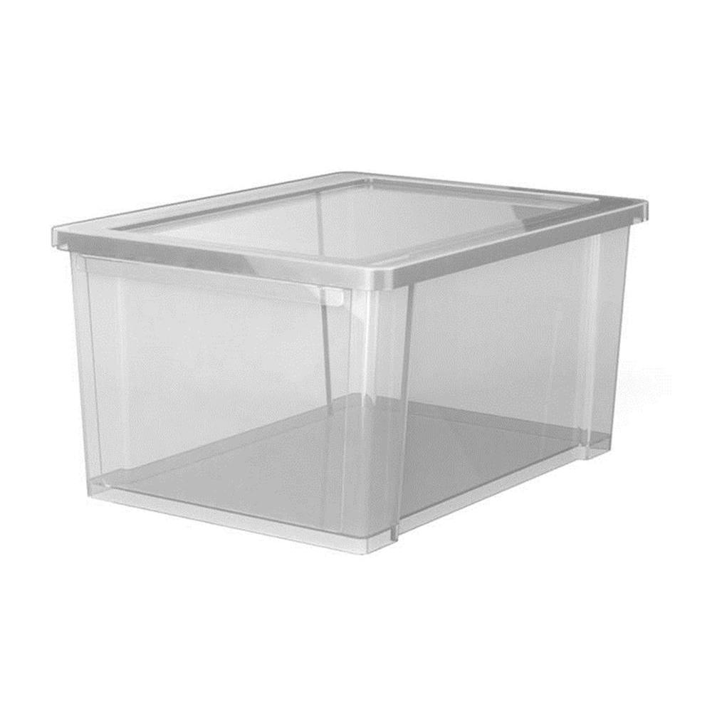 rubbermaid 11 qt 13 9 in l x 9 9 in w x 7 4 in h access extra small storage box in clear. Black Bedroom Furniture Sets. Home Design Ideas