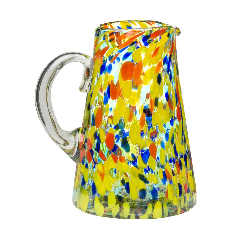 Carnaval 80 oz. Multicolor Glass Pitcher with Confetti Coloring
