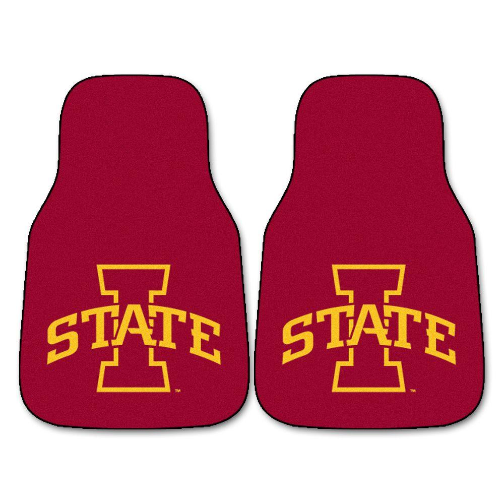 Iowa State University 18 in. x 27 in. 2-Piece Carpeted Car