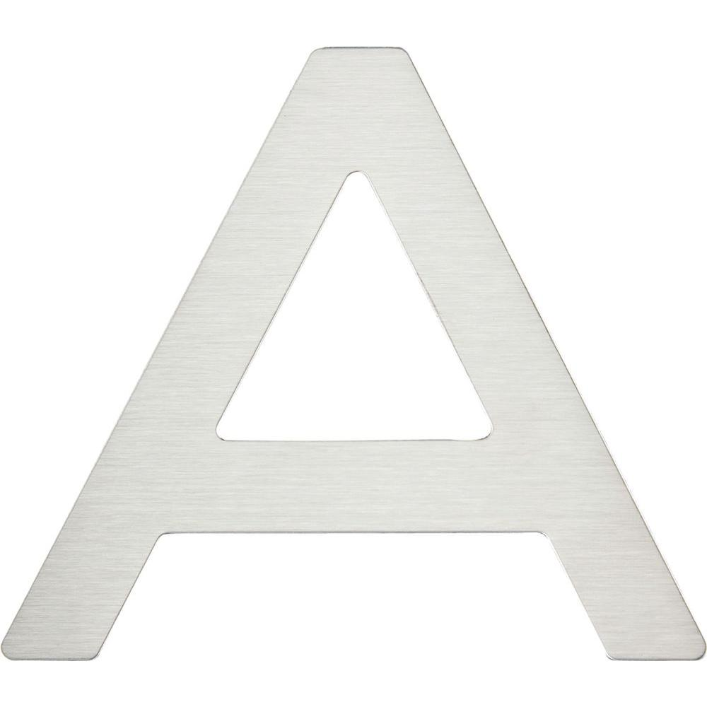 Paragon Collection 4 in. Stainless Steel Letter A
