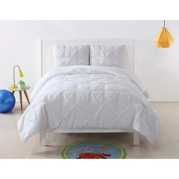 My World Pleated White Multi Full and Queen Duvet Set DCS2013WTFQ-18