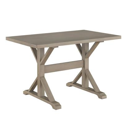 Delano Weathered Gray Writing Trestle Desk