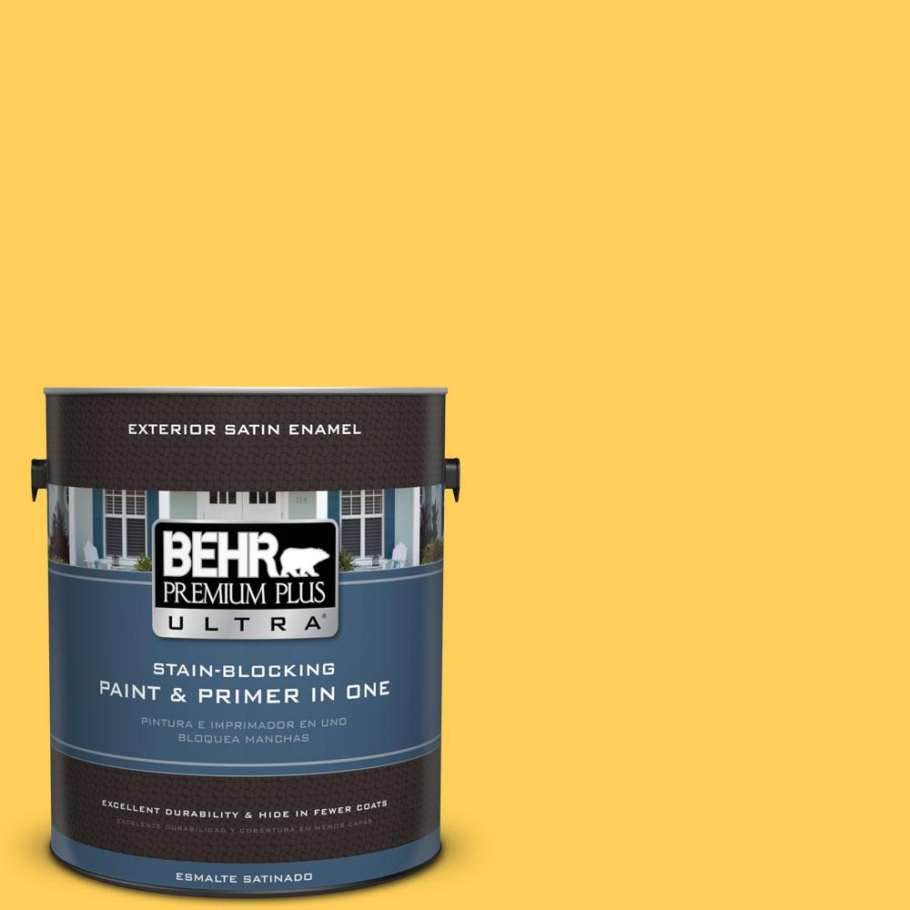 Behr Premium Plus Ultra 1 Gal 330b 6 Lemon Sorbet Satin