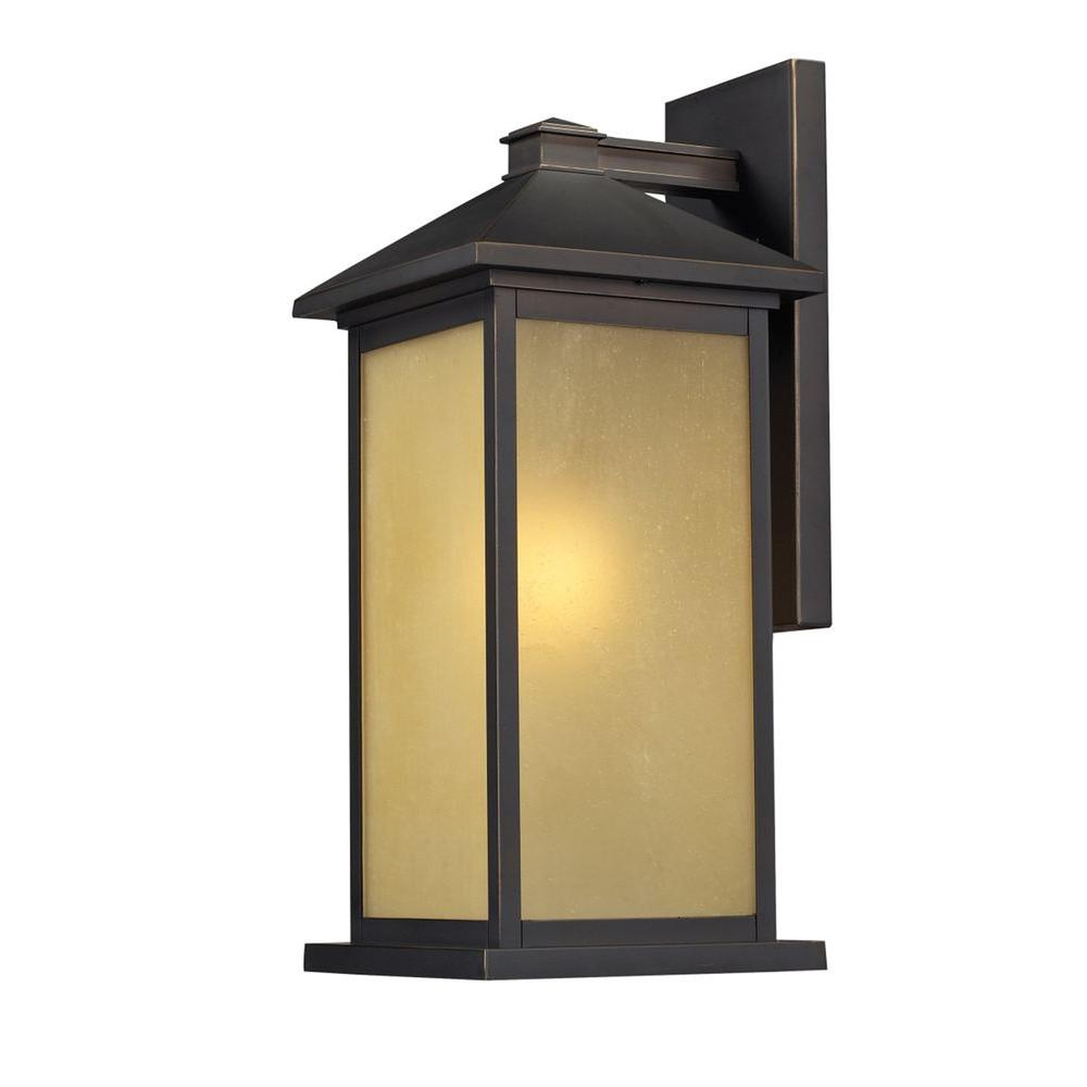 Lawrence 1-Light Oil-Rubbed Bronze Incandescent Outdoor Wall Light