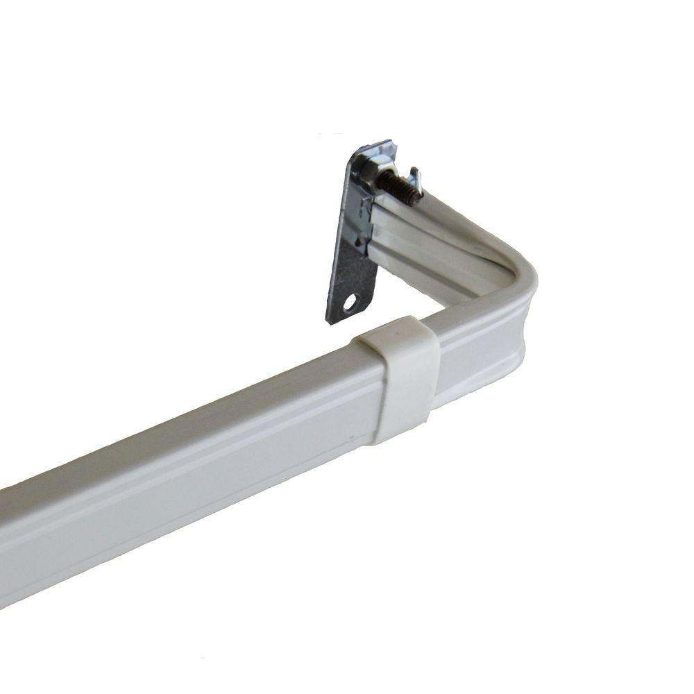 Rod Desyne 48 in. - 84 in. Lockseam 2 in. Clearance Curtain Rod Rod Desyne is pleased to introduce our 2 in. clearance lock-seam curtain rod. This rod is designed to support rod pocket curtains or valances. Excellent quality and sturdy with a coating on the inside and out.