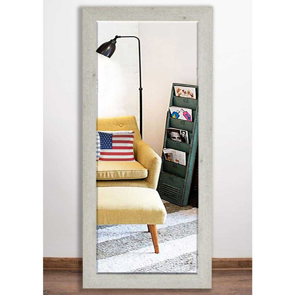 30 in. x 63.5 in. Vintage Black Beveled Full Body Mirror
