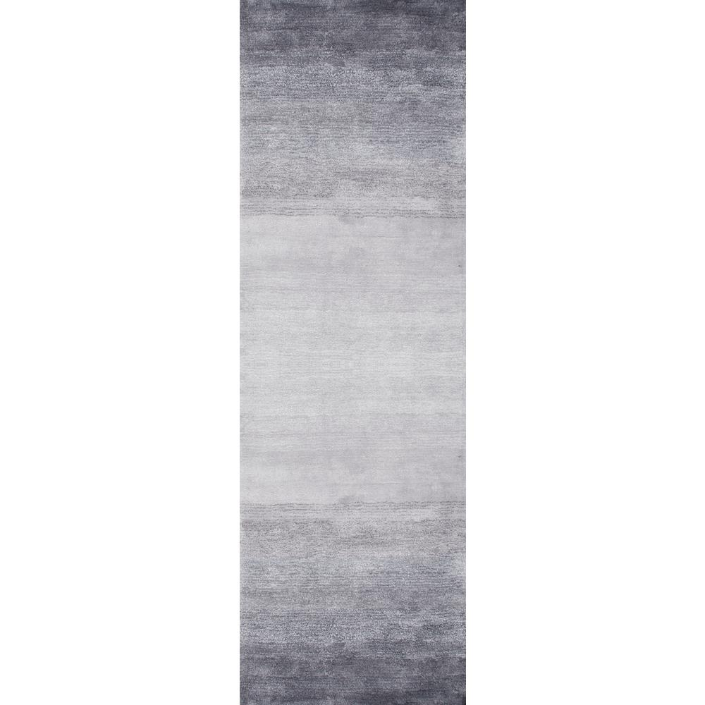 nuLOOM Ombre Bernetta Grey 3 ft. x 10 ft. Runner Rug