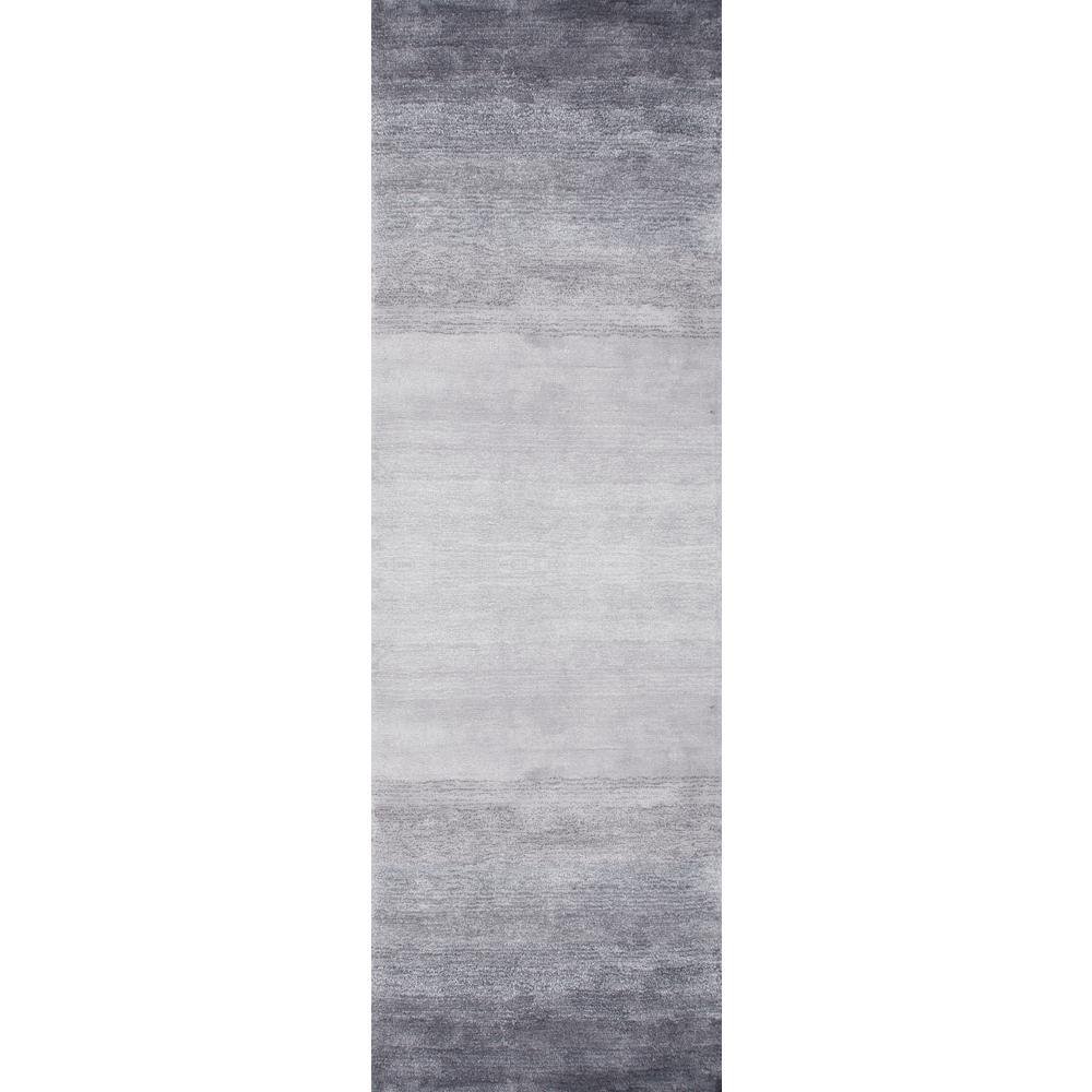 Ombre Bernetta Grey 3 ft. x 10 ft. Runner Rug