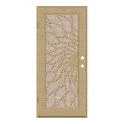 Sunfire Copperclad Surface Mount Security Door with Desert Sand Perforated Aluminum Screen