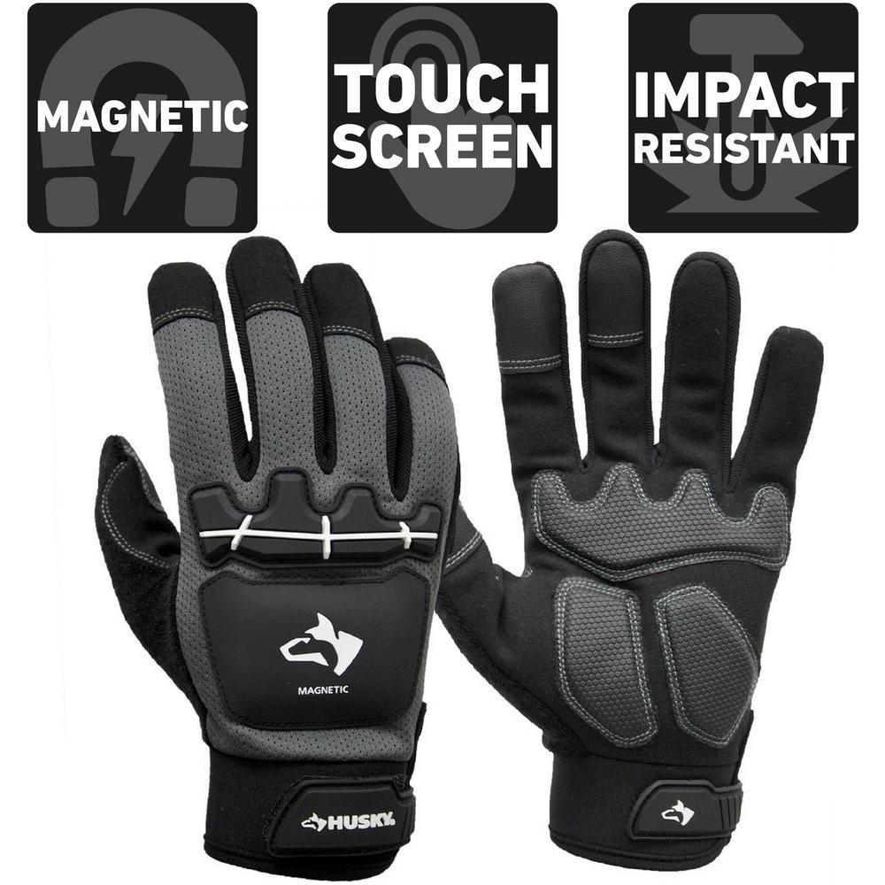 Large Heavy Duty Impact Magnetic Mechanics Glove