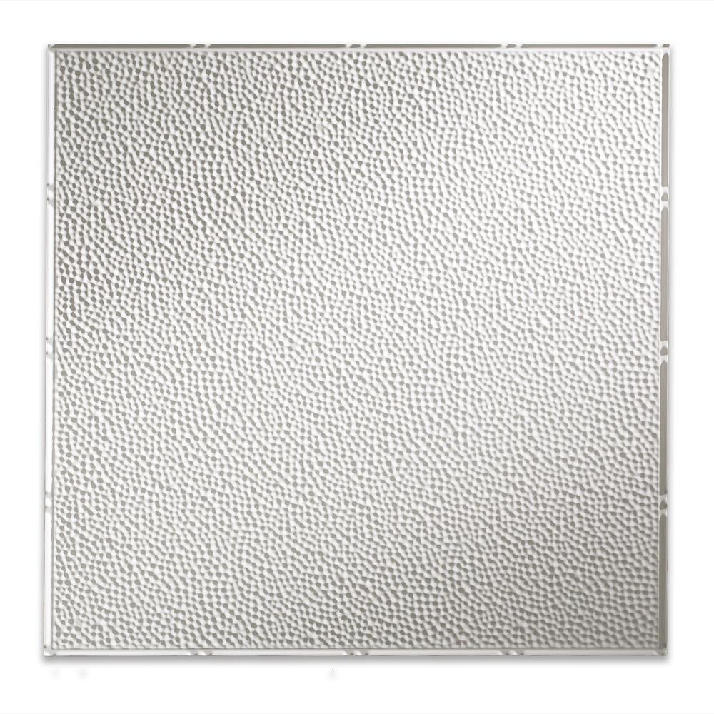 Fasade Border Fill 2 Ft X 2 Ft Matte White Lay In Vinyl Ceiling Tile 20 Sq Ft Pl5901 The Home Depot