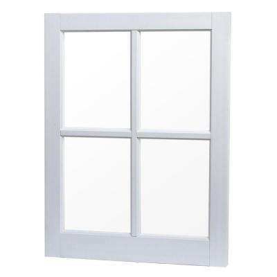 22 in. x 29 in. Utility Fixed Picture Vinyl Window with Grid - White