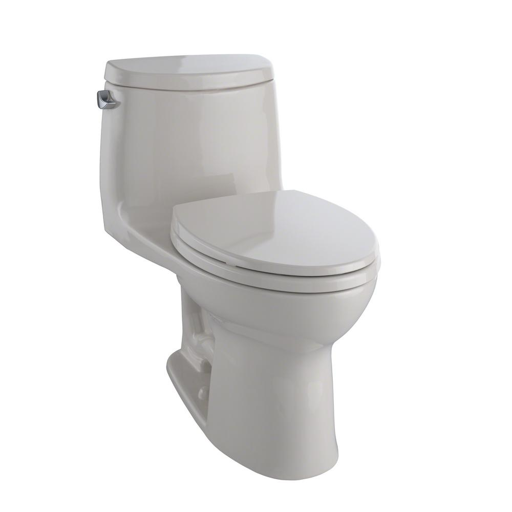 UltraMax II 1-Piece 1.28 GPF Single Flush Elongated Toilet with CeFiONtect