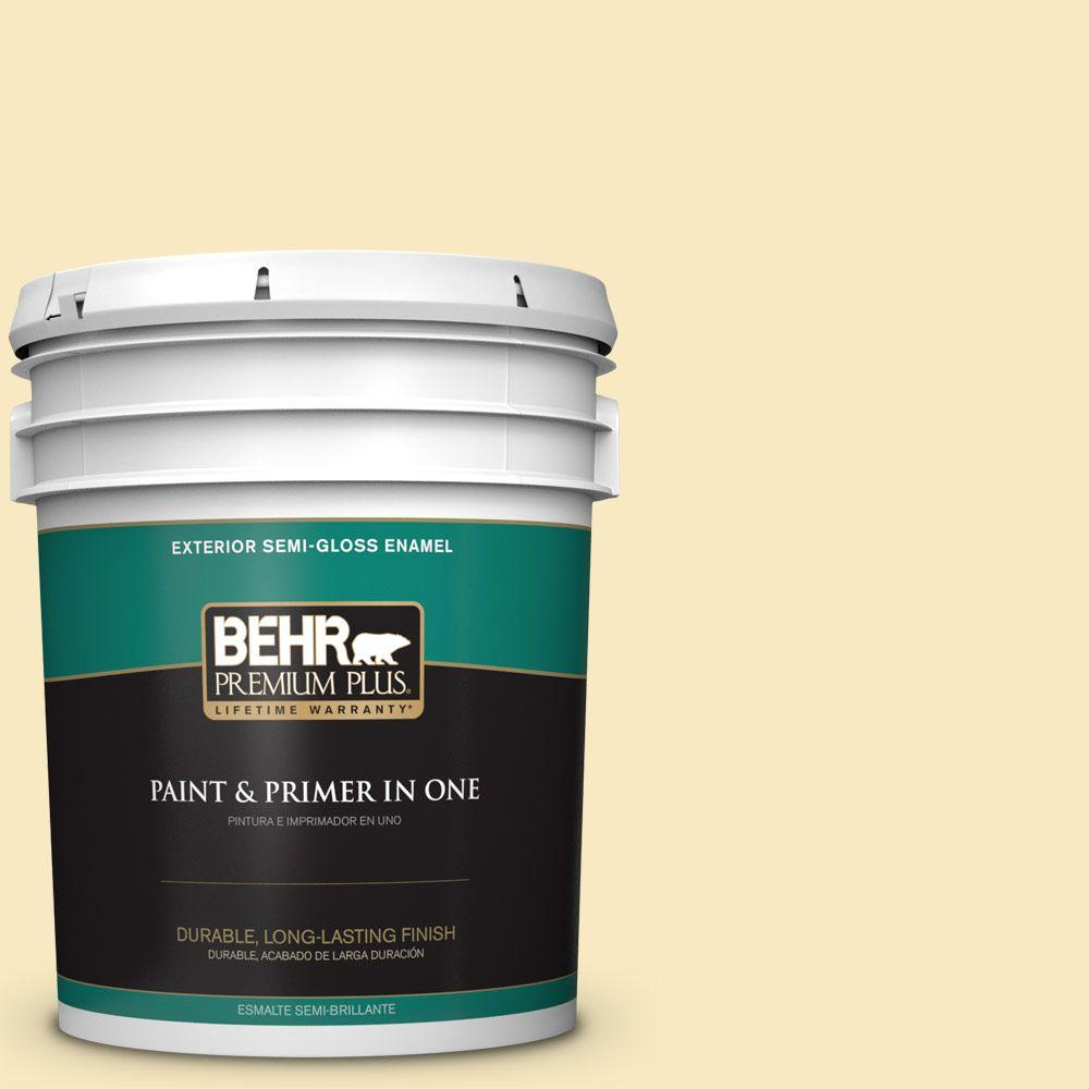 5-gal. #340A-2 Rich Cream Semi-Gloss Enamel Exterior Paint