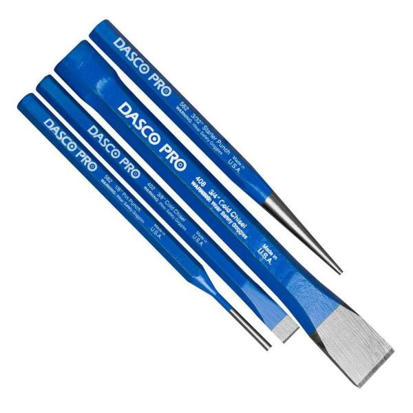 W Forged High Carbon Steel  Brick Chisel Set  Blue  1 pk Dasco Pro  4 in