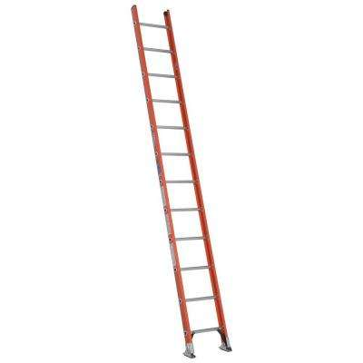 12 ft. Fiberglass D-Rung Straight Ladder with 300 lb. Load Capacity Type IA Duty Rating
