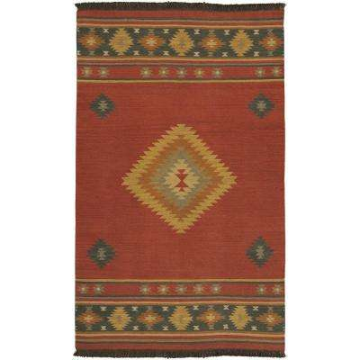 Megan Red Clay 3 ft. 6 in. x 5 ft. 6 in. Area Rug