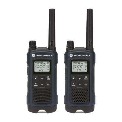 Talkabout T460 Weatherproof 2-Way Radios with 35 Mile Range and NOAA Notifications in Dark Blue