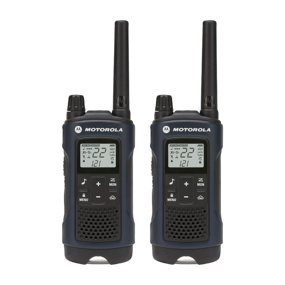 Talkabout T460 Weatherproof 2-Way Radios with 35 Mile Range and NOAA Notifications in Dark Blue