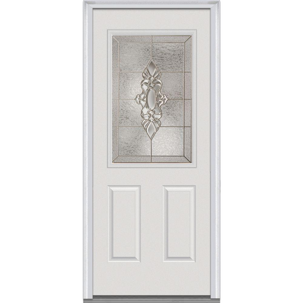 32 in. x 80 in. Heirloom Master Right-Hand 1/2 Lite 2-Panel