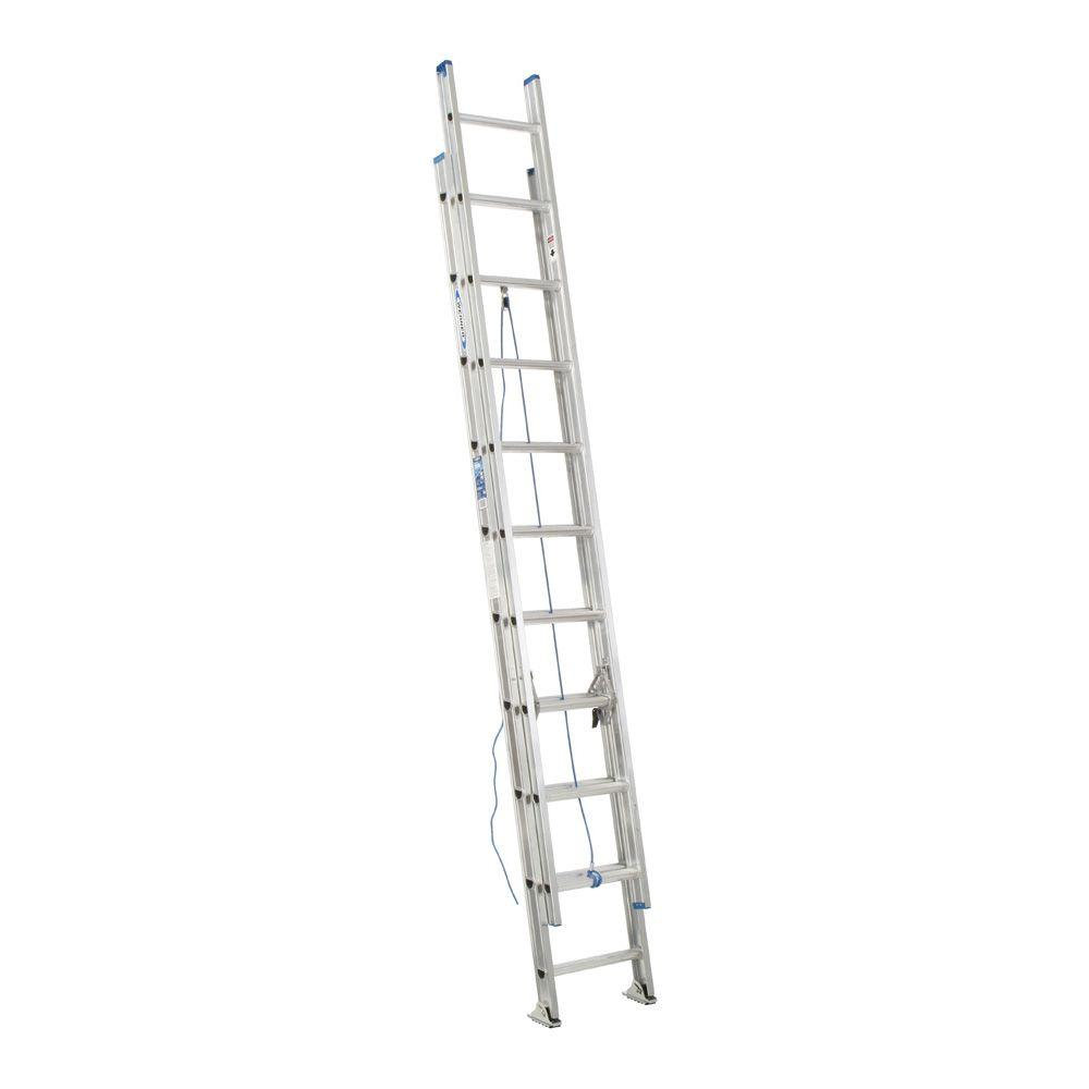 20 ft. Aluminum D-Rung Extension Ladder with 250 lb. Load Capacity