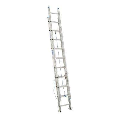 20 ft. Aluminum D-Rung Extension Ladder with 250 lb. Load Capacity Type I Duty Rating