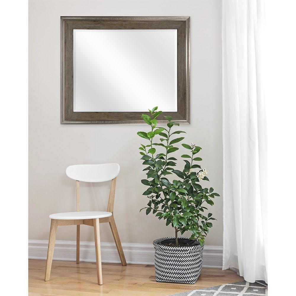 MCS Cauley 36 in. H x 30 in. W Framed Mirror in Wood Tone-85088 ...
