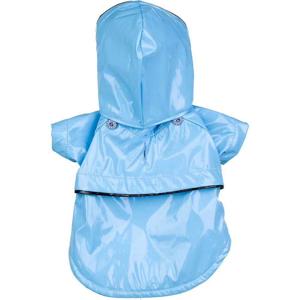 PET LIFE Small Light Blue PVC Fashion Raincoat
