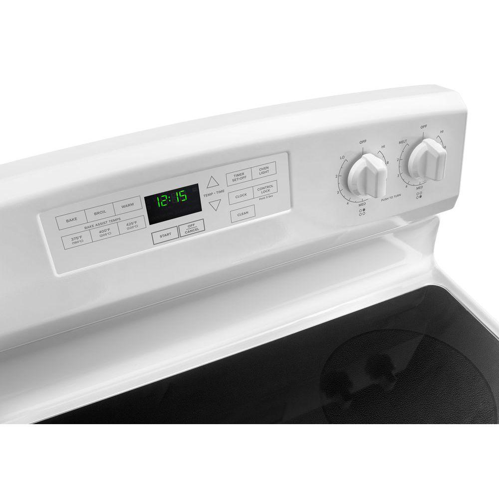 Amana 4 8 cu  ft  Electric Range in White