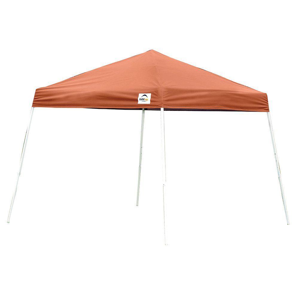 Shelterlogic 10 Ft X 10 Ft Slant Leg Terracotta Pop Up Canopy