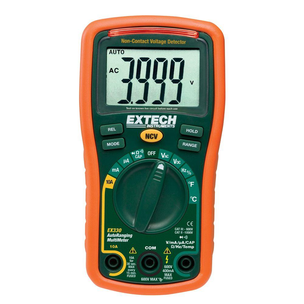 Extech Instruments Manual Multimeter With Ncv 4000 Ct Auto Ranging Test Car Fuse Box Temp