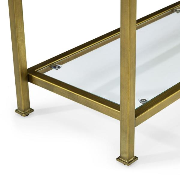 Crosley Aimee Gold Gl Console Table