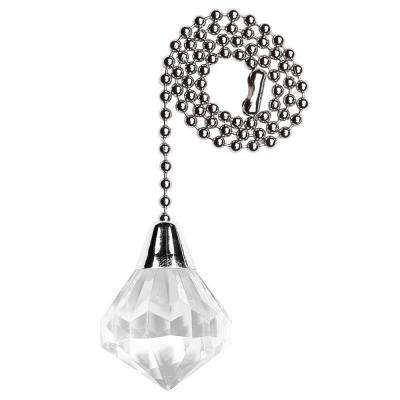 Metal ceiling fan pull chains ceiling fan parts the home depot acrylic diamond pull chain aloadofball Gallery